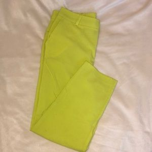 Lime green ankle pants